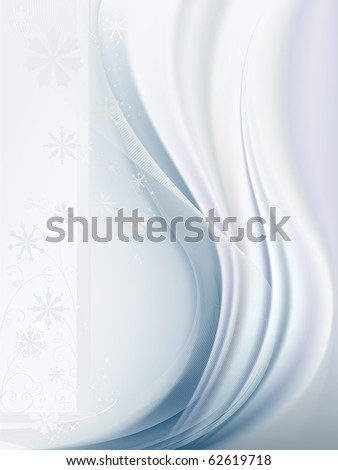 Light blue background with snowflakes vector - stock vector