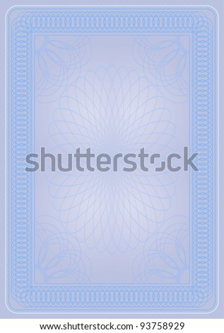 light blue certificate diploma - stock vector