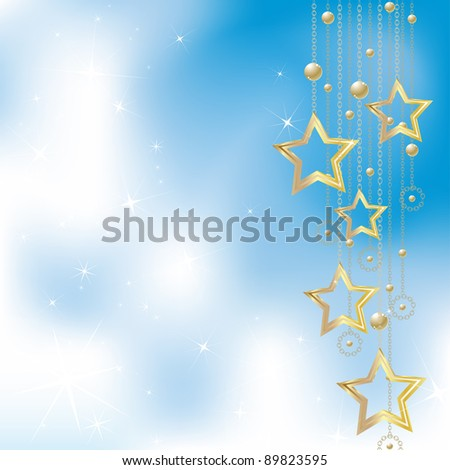 Light blue christmas background - stock vector