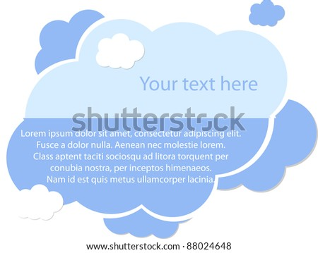 Light blue cloud for your text - stock vector