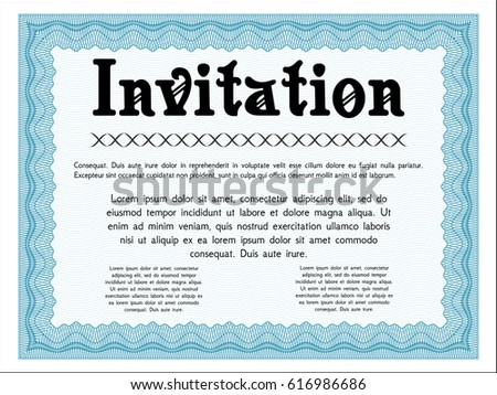 Baptism Christening Invitation Card Invite Template Stock Vector