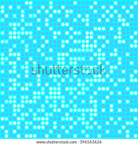 Light blue pixel mosaic background with light and dark blue colors. Pixels are easily editable. - stock vector