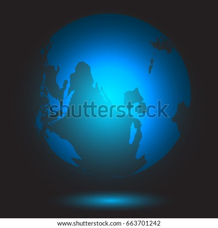 Light blue world map on dark stock vector 663701242 shutterstock light blue world map on the dark background as globalization and technology concept gumiabroncs Gallery