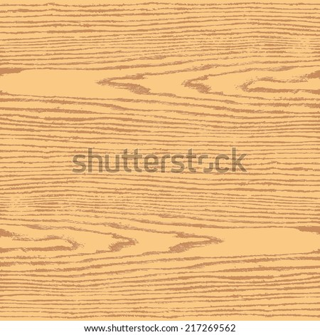 Light brown color wood texture background in square format. Natural pattern swatch template in flat style. Realistic plank with annual years circles. Design elements save in vector illustration 8 eps - stock vector