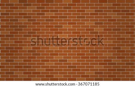 Light Brown Dark And Orange Brick Wall Wallpaper Background Vector Illustration
