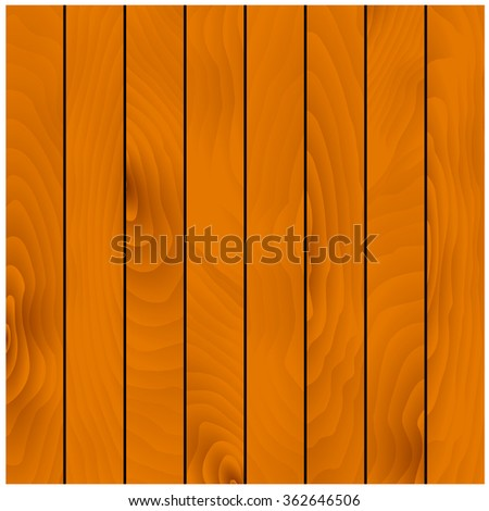 Light brown wooden background with texture of natural hardwood planks. Addition to construction, DIY or carpentry background projects design. Vector - stock vector