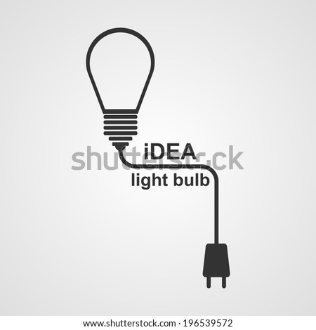 Light Bulb and plug concept. - stock vector