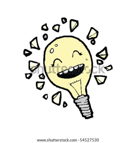 light bulb cartoon - stock vector