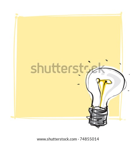 light-bulb dynamic freehand line style - stock vector