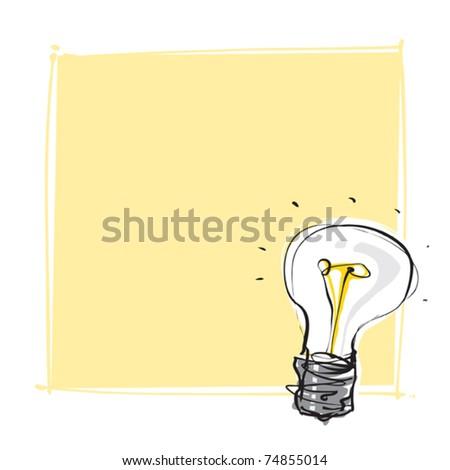 light-bulb dynamic freehand line style - stock vector