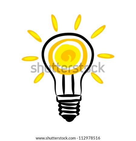 Light bulb icon - stock vector