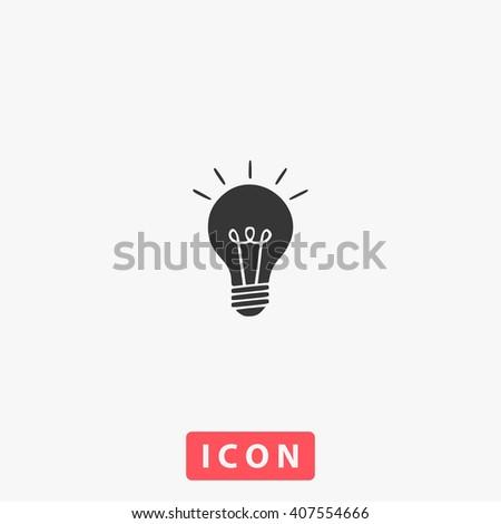 light bulb Icon.  - stock vector