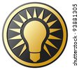 light bulb Icon (light bulb button) - stock photo