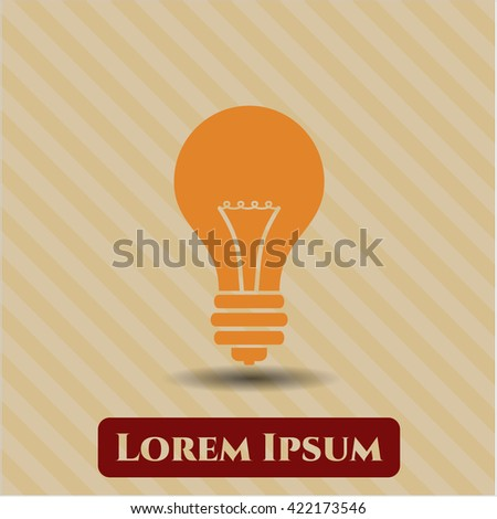 Light bulb icon, Light bulb icon vector, Light bulb icon symbol, Light bulb flat icon, Light bulb icon eps, Light bulb icon jpg, Light bulb icon app, Light bulb web icon, Light bulb concept icon - stock vector