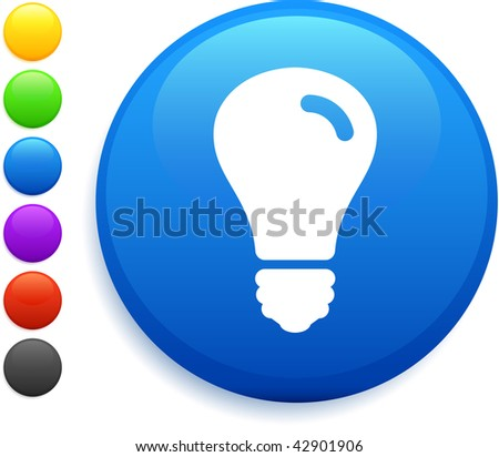 vector square blue icon lighting bulb. light bulb icon on round internet button original vector illustration 6 color versions included square blue lighting r