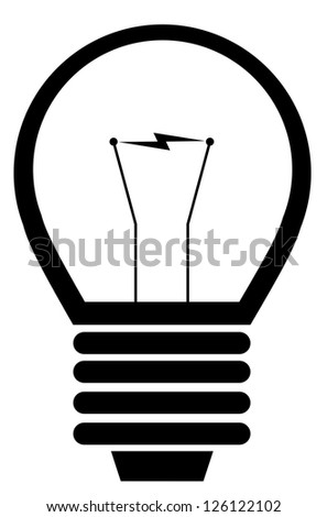 Light bulb icon on white background vector. - stock vector