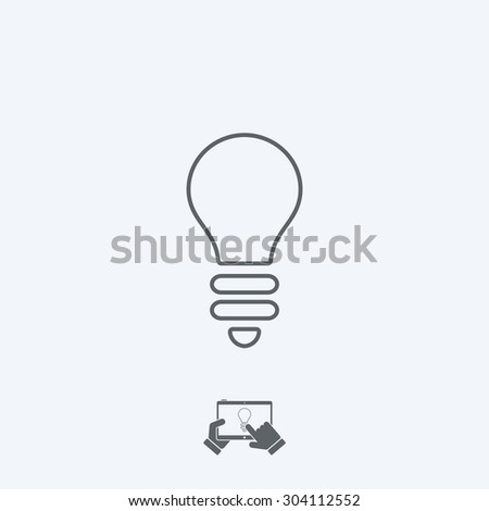 Light bulb icon - Thin series - stock vector