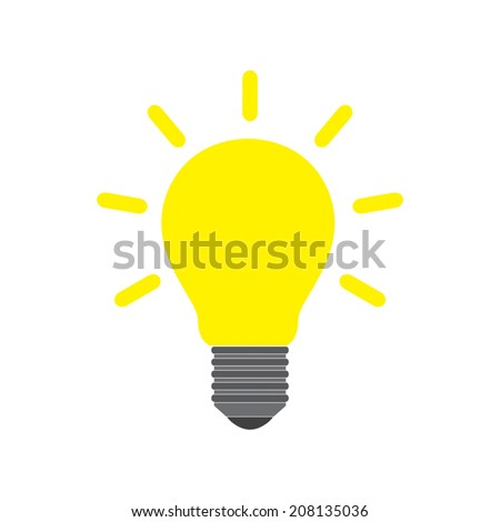 Light bulb icon - Vector - stock vector