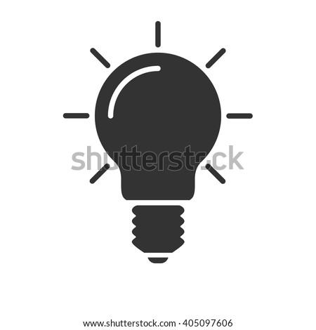 Light bulb icon vector, solid illustration, pictogram isolated on white - stock vector