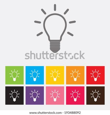 Light bulb icons set - Vector - stock vector