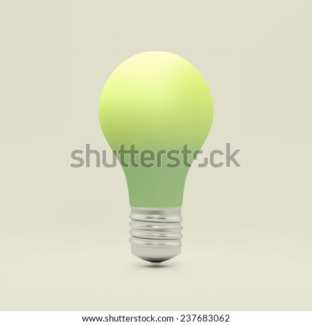 Light bulb idea symbol. 3d vector illustration. Can be used for your business presentation. - stock vector