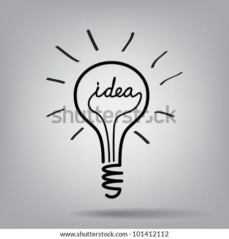 light bulb idea vector - stock vector