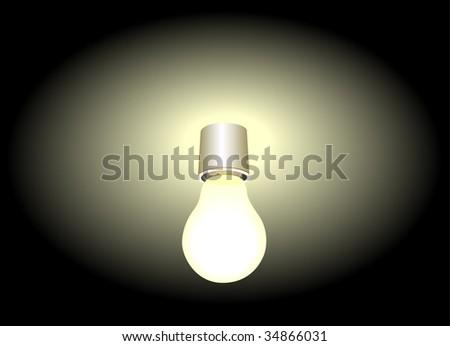 light bulb illustration - stock vector