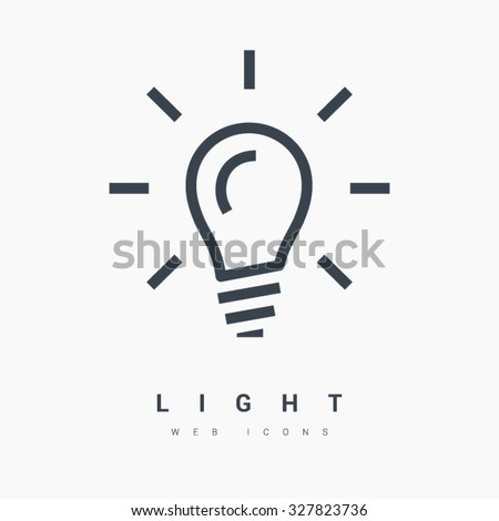 Light bulb isolated minimal single flat linear icon in black and white colors. Line vector icon for websites and mobile minimalistic flat design. Modern trend concept design style illustration symbol - stock vector