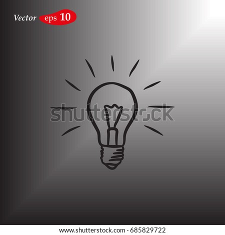 Light Bulb line icon vector. Idea sign, solution, thinking concept. Lighting Electric lamp