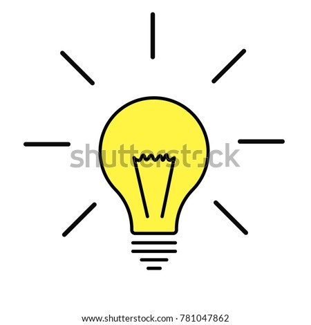 Light bulb line icon vector idea stock vector 781047862 shutterstock light bulb line icon vector idea sign solution thinking concept lighting electric publicscrutiny Images