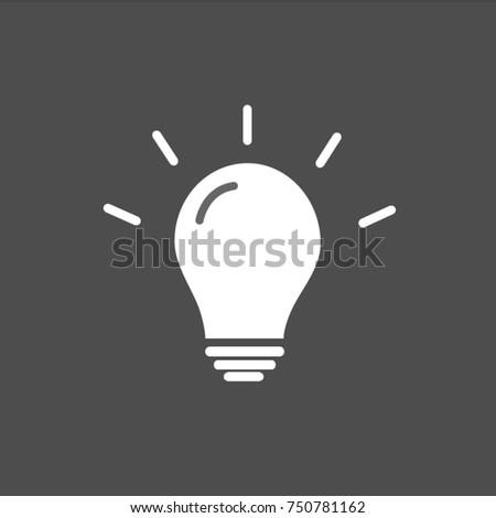 Light Bulb line icon vector isolated on Gray background. Idea sign solution & Light Bulb Line Icon Vector Isolated Stock Vector 748628344 ... azcodes.com
