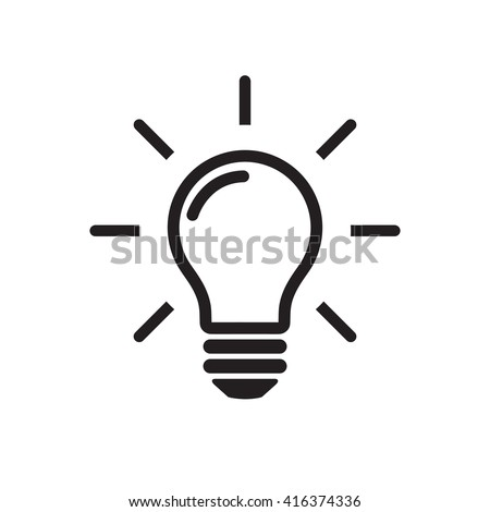 icon lighting. light bulb line icon vector isolated on white background idea sign solution lighting