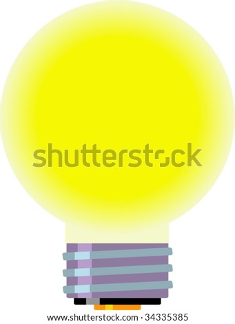 Light bulb. No gradient. Isolated Vector Illustration.