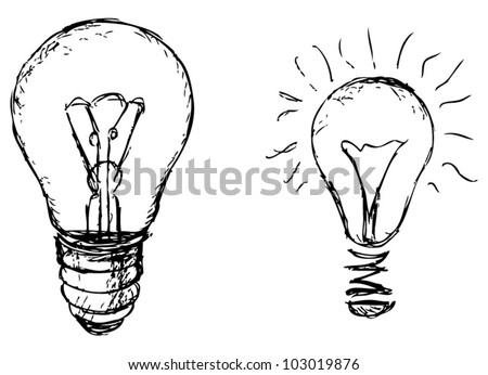Light bulb. Vector - stock vector