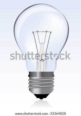 Light bulb / vector - stock vector