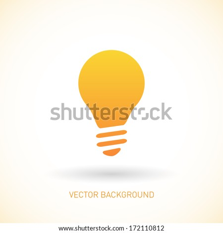 Light bulb vector icon.  - stock vector