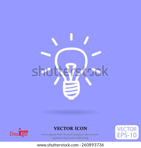 light bulb vector icon - stock vector