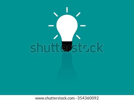 Light bulb vector icon - stock vector