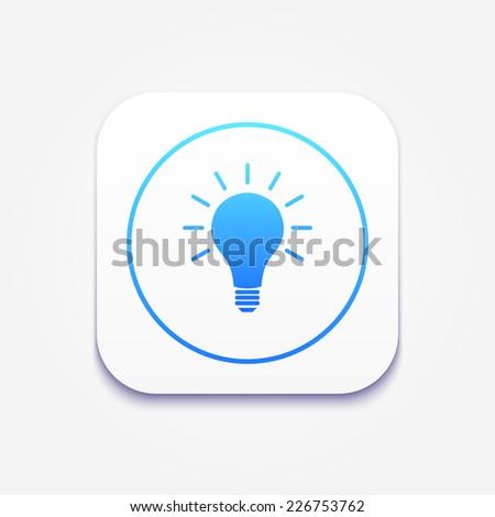 Light bulb vector idea icon - stock vector