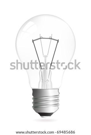 Light bulb vector illustration isolated over white - stock vector