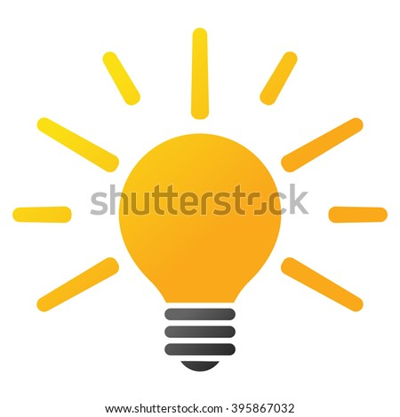 Light Bulb vector toolbar icon. Style is gradient icon symbol on a white background.
