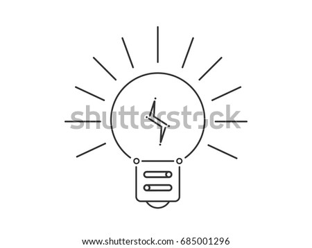 Light bulb with lightning inside
