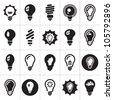 Light bulbs. Bulb icon set - stock photo