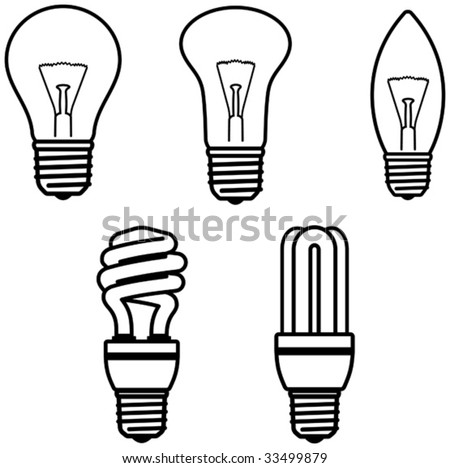 Light Bulbs â?? Vector illustration - stock vector