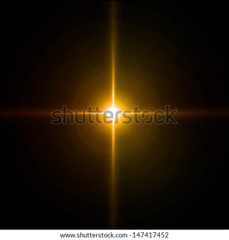 Light burst, fireworks, lens flare. Vector - stock vector