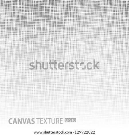 Light Canvas texture, vector illustration - stock vector