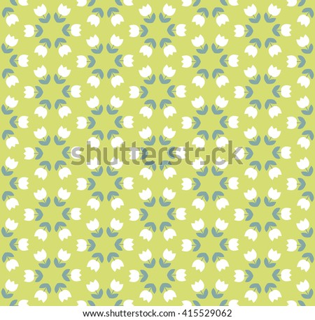 light color tulip seamless vector pattern