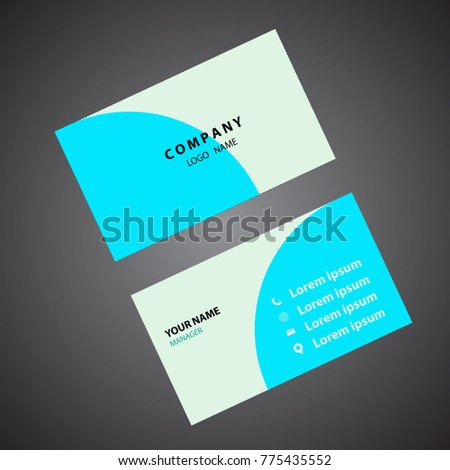 Light colored simple business card stock vector hd royalty free light colored and simple business card reheart Image collections
