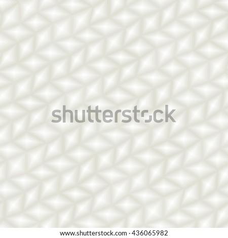 Light 3d triangle tile texture - seamless vector pattern - stock vector