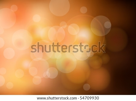 light dots on yellow background - stock vector